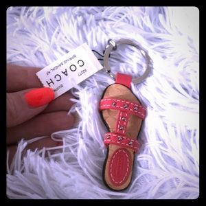 Coach sandal keychain